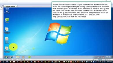 Photo of VMware Workstation bridge network adapter fail for Internet in Windows 10 NAT Host-only Adapters