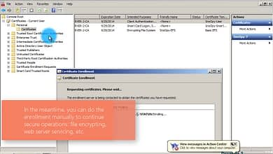 Photo of 3.6.2 Troubleshooting after User certificate template duplication, permissions and GPO configurations