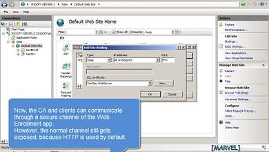 3.4 Implement HTTPS SSL Web Enrollment IIS Sub Enterprise CA Windows Server 2008 R2