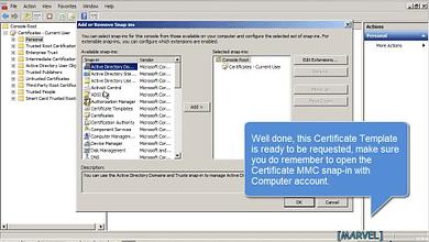 3.3 Set permissions Domain Computers Web Server certificate template IIS Enrollment Sub Enterprise CA