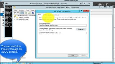 6.5.2 Transfer Flexible Single-Master Operation Master Roles – Seize FSMO WS 2012 ADUC ntdsutil