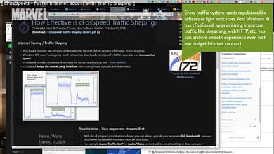 cFosSpeed – Traffic shaping, Network bandwith limiter, Wi-Fi hotspot Windows 10 Fix slow Internet